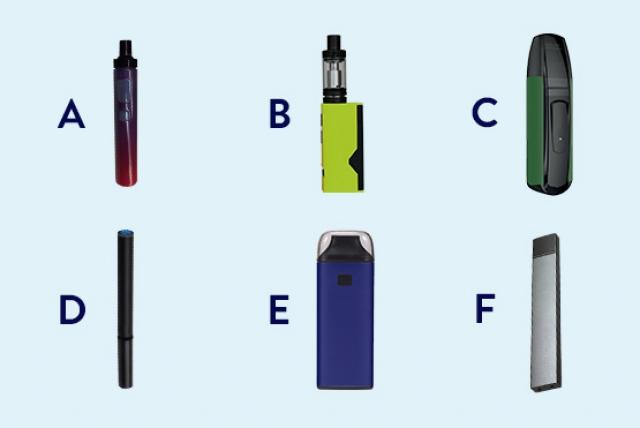 Lequel de ces exemples est une cigarette électronique?